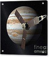 Juno Mission To Jupiter Acrylic Print