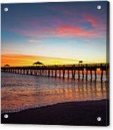 Juno Pier Colorful Sunrise Acrylic Print