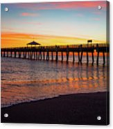 Juno Pier Colorful Sunrise Panoramic Acrylic Print