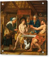 Jupiter And Mercury In The House Of Philemon And Baucis Acrylic Print