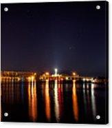Jupiter Florida  Inlet Lighthouse At Night Acrylic Print