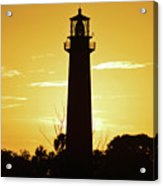 Jupiter Lighthouse Golden Sunrise Acrylic Print