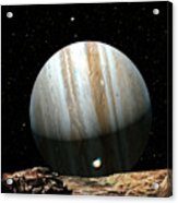 Jupiter Seen From Europa Acrylic Print by Don Dixon