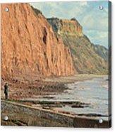 Jurassic Cliffs Acrylic Print