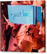 Just Be Leaves... Acrylic Print