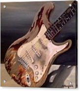 Just Broken In- Old Guitar Acrylic Print