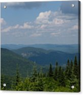 Just Climb Mountains And Breathe Deeply Acrylic Print