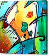 Just Having Fun Original Pop Art Abstract Painting By Madart Acrylic Print