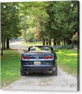 Just Married In The Car Acrylic Print