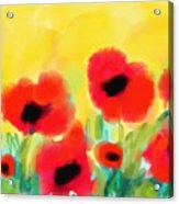 Just Poppies Acrylic Print