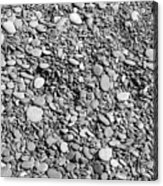 Just Rocks - Black And White Acrylic Print