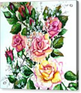 Just Roses Acrylic Print
