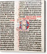 Gutenberg Bible Acrylic Print