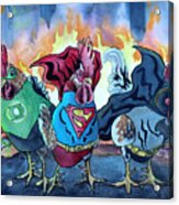 Justice Flock Acrylic Print