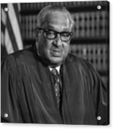 Justice Thurgood Marshall 1908-1993 Acrylic Print by Everett