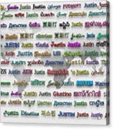 Justin Acrylic Print