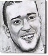 Justing Timberlake Portrait Acrylic Print
