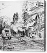 K Varnali Street Nea Erythraia  Acrylic Print