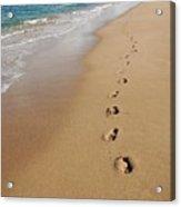 Kaanapali Footprints In The Sand Acrylic Print
