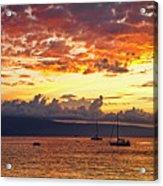 Ka'anapali Sunset Fire Acrylic Print