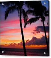 Kaanapali Sunset  Kaanapali  Maui Hawaii Acrylic Print