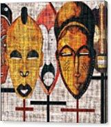 Kabila Masks Acrylic Print
