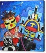 Kachina Knights Acrylic Print
