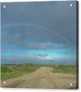 Ka'ena Point Rainbow Acrylic Print
