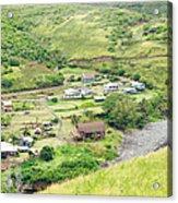 Kahakuloa Village Maui Hawaii Acrylic Print
