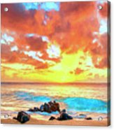 Kailua-kona Sunset Acrylic Print