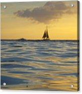 Kaimana Golden Sunset Acrylic Print