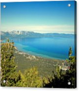 Lake Tahoe From The Top Of Heavenly Gondola Acrylic Print