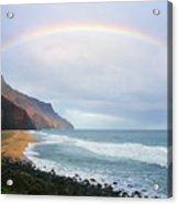 Kalalau Beach Rainbow Acrylic Print