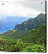 Kalalau Trail Overlook Acrylic Print