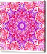 Kaleido Red Rubi 8 Acrylic Print