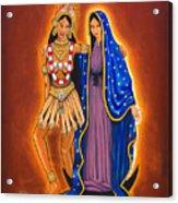 Kali And The Virgin Acrylic Print