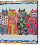 Kalico Kitties Acrylic Print