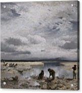 Kalksteinsammlerinnen Im Isarbett Acrylic Print