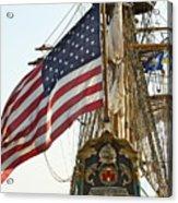 Kalmar Nyckel American Flag Acrylic Print
