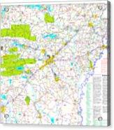 Kamkam Arkansas Highway Map  Acrylic Print