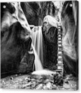 Kanarraville Falls Bw Acrylic Print