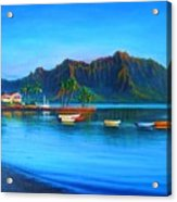 Kaneohe Bay - Early Morning Glass Acrylic Print by Joseph   Ruff