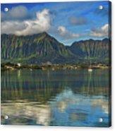 Kaneohe Bay Oahu Hawaii Acrylic Print