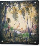 Kangaroo Kingdom Acrylic Print
