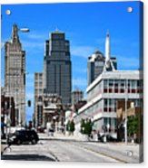 Kansas City Cross Roads Acrylic Print
