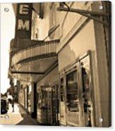 Kansas City - Gem Theater Sepia 2 Acrylic Print