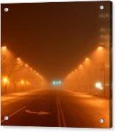 Kansas City Grand Avenue In Fog Acrylic Print
