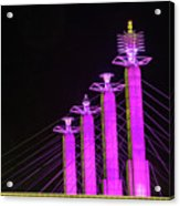 Kansas City Pylons In Pink Acrylic Print