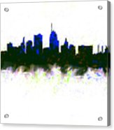 Kansas City Skyline Blue  Acrylic Print