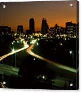 Kansas City Skyline, 1981 Acrylic Print